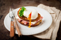 Croque madame, French Toast with Egg Royalty Free Stock Photos