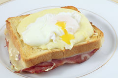 Croque madame horizontal Stock Photo