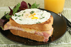 Croque madame Royalty Free Stock Image