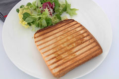 Croque-monsieur. Bread tart on a white background Stock Images