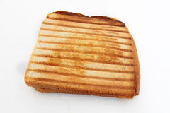 Croque-monsieur. Bread tart on a white background Stock Image