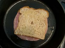 Croque Monsieur French Grilled Ham and Cheese Sandwich Stock Image