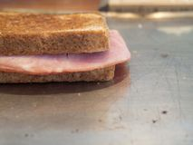 Croque Monsieur French Grilled Ham and Cheese Sandwich Stock Images