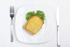 Croque-monsieur sandwich Royalty Free Stock Images