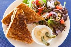 Croque Monsieur sandwich Royalty Free Stock Images