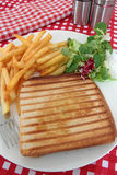 Croque-monsieur. On a white background Stock Photography