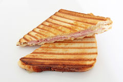 Croque-monsieur. On a white background Royalty Free Stock Image