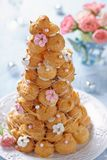 Croquembouche with Roses Royalty Free Stock Image