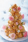 Croquembouche with Roses Royalty Free Stock Images