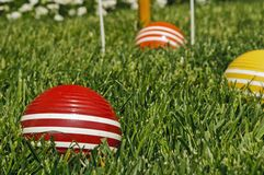 Croquet Balls Stock Photography