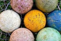 Croquet balls Stock Photos