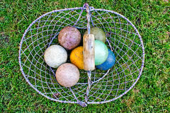Croquet balls Royalty Free Stock Photo