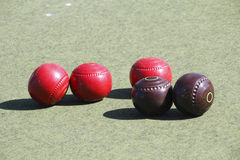 Croquet Balls royalty free stock photo