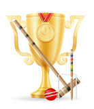 Croquet cup winner gold stock vector illustration Royalty Free Stock Photography