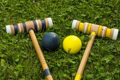 Croquet equipment Stock Image