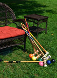 Croquet Equipment After a Fun Game Royalty Free Stock Image