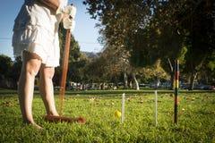 Croquet in het Park Stock Fotografie