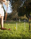 Croquet in het Park Stock Foto's