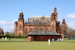 Croquet at Kelvingrove. Croquet played in front of the Kelvingrove Art Gallery, Glasgow Royalty Free Stock Photos