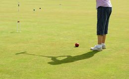 Croquet player stock images