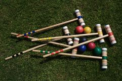 Croquet Set Stock Photo