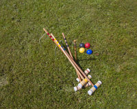 Croquet Set Stock Photography
