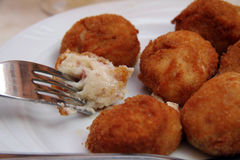 Croqueta de jamon immagine stock