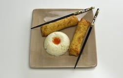 Croquetas chinas con arroz Imagenes de archivo