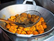 Croquetas de pescados fritas Fotos de archivo