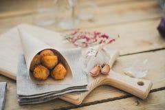 Croquetas dello Spagnolo del prosciutto Immagine Stock