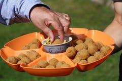 Croquetas holandesas del aperitivo Fotografía de archivo libre de regalías