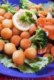 Croquetes com cenoura e brócolos Fotografia de Stock