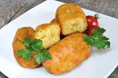 Croquetes das batatas fotografia de stock