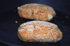 Croquetes de peixe da fritada-acima Imagens de Stock Royalty Free