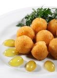 Croquetes do queijo Imagens de Stock Royalty Free