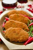 Croquetes dos peixes de bacalhau no prato imagens de stock royalty free