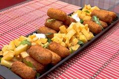 Croquetes e fritadas Fotografia de Stock