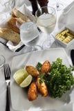 croquette βακαλάων ορεκτικών ψάρι& Στοκ φωτογραφία με δικαίωμα ελεύθερης χρήσης