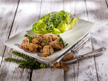 Croquette  with  almond Stock Photography