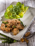 Croquette  with  almond Stock Photos