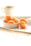 Croquette with coffee. Croquette on the table Stock Image