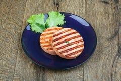 Croquette de poisson grillée Photo stock