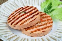 Croquette de poisson grillée Image libre de droits