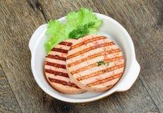 Croquette de poisson grillée Photographie stock libre de droits