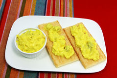 Croquettes с салатом Стоковая Фотография
