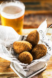Croquettes and beer Royalty Free Stock Image