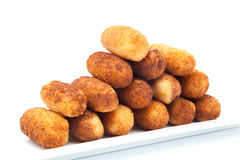 Croquettes breaded Royalty Free Stock Photos