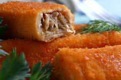Croquettes close up Royalty Free Stock Photo