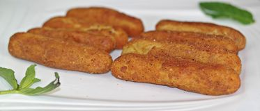 Croquettes, Croquettes food Royalty Free Stock Photography