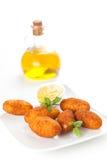 Croquettes de jambon et de fromage Photos stock